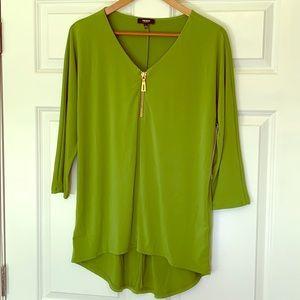 Green 3/4 sleeve shirt